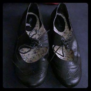 Nicole black oxfords vintage black shoes for women